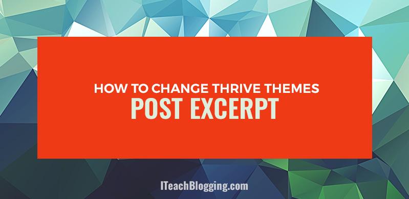 how to add excerpt in wordpress post